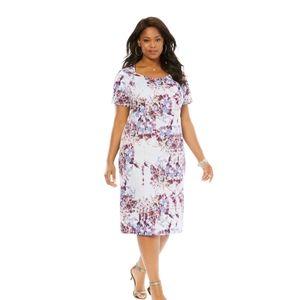 Roaman's plus size sheath floral dress